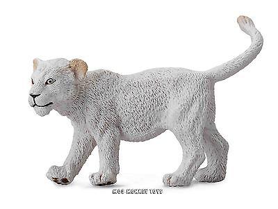 WHITE LION CUB WALKING CollectA # 88551 BABY Safari Animal Replica NWT