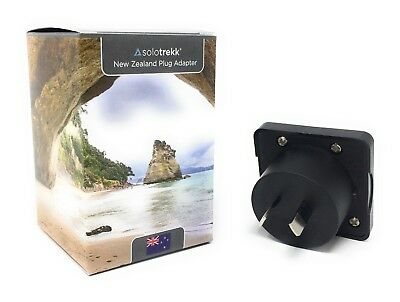 2 x UK to New Zealand Travel Plug Adapters | Socket Converter Adaptor Solotrekk