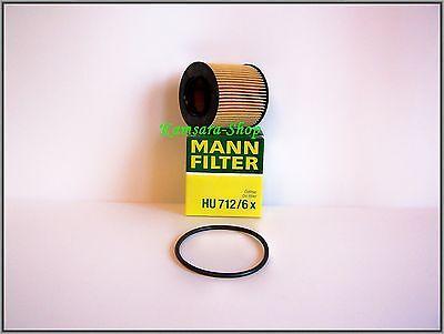 Oil Filter MANN HU 712/6 x Audi A3, Seat Ibiza, Skoda Fabia , Octavia, VW Golf,
