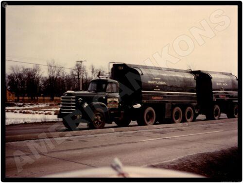 1958 Diamond T Trucks New Metal Sign: Matlack Tandem Tanker - Flammable