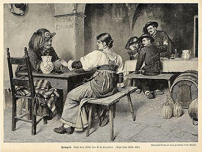 A.de Courten ( Belagert ) Militärische Graphik von 1899