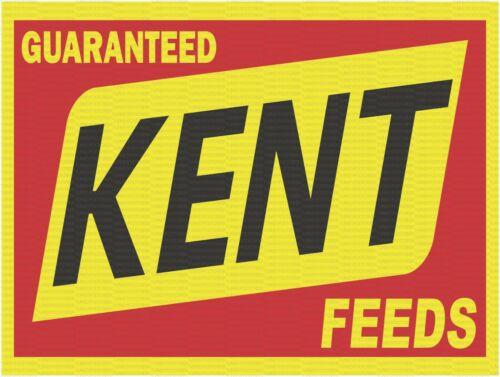 """KENT FEEDS 9"""" x 12"""" ALUMINUM Sign"""