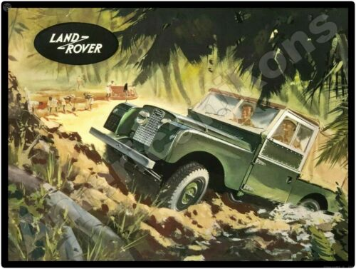 1956 Land Rover NEW Metal Sign: In the Jungle Setting