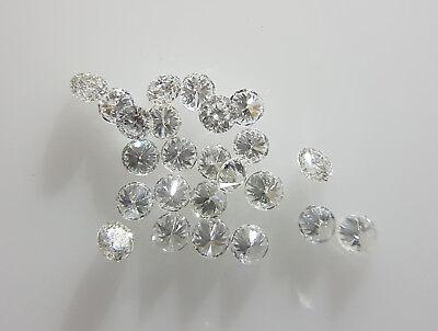 Natural Loose Brilliant Diamond 5Pc E Color Vvs Vs Clarity 0 8 1 6Mm Round White
