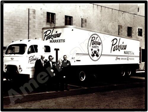 White Trucks New Metal Sign: White 3000 Parkview Markets, Cincinnati, Ohio