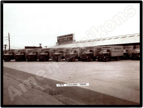 International Trucks New Metal Sign Burlington Truck Lines 1954 Chicago Terminal