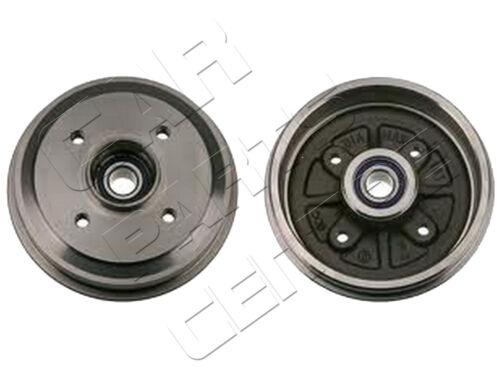 FOR FORD FOCUS MK1 REAR BRAKE DRUMS & WHEEL BEARINGS PRESSED FITTED 1998 - 2004