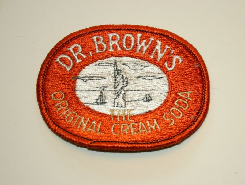 Rare Vintage Dr Browns The Original Cream Soda Cloth Patch 1970s NOS New