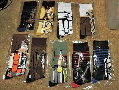 🔥🔥 Lot of 9 Pairs of Star Wars Socks  🔥🔥