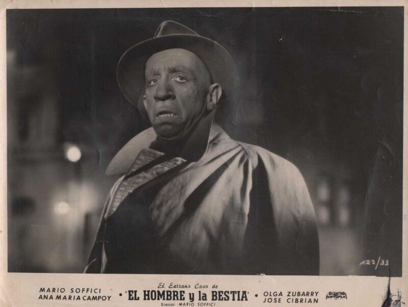 """MARIO SOFFICI in """"El Extraño Caso del Hombre y la Bestia"""" Original 1951 - RARE"""