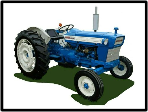 Ford Tractors New Metal Sign: Model 4000 Featured