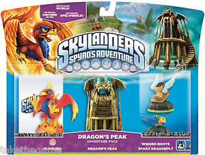 Skylanders Spyro's Adventure Pack DRAGON'S PEAK Sunburn Winged Boots - BNIP