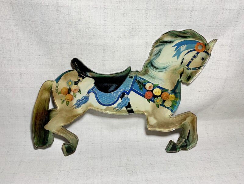 "Custom Large Handmade Acrylic Decorated Show Horse Magnet Vintage Folk Art 13"""