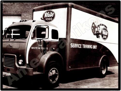 White 3000 Trucks New Metal Sign: White 3000 Service Training Unit Truck
