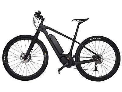 "29er  E Bike 18"" carbon frame fork MTB motor wheel Electric Shimano UD matt"