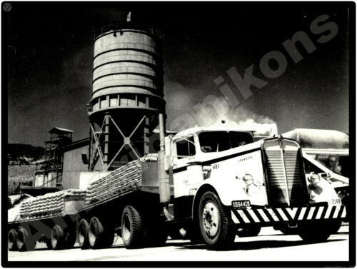 Kenworth Trucks New Metal Sign: Kenworth Flatbed Cement Hauler Tractor Trailer
