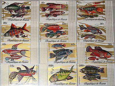 GUINEA 1971 571 82 570 81 FISH FISCHE MARINE LIFE FAUNA MEERESTIERE NATURE MNH