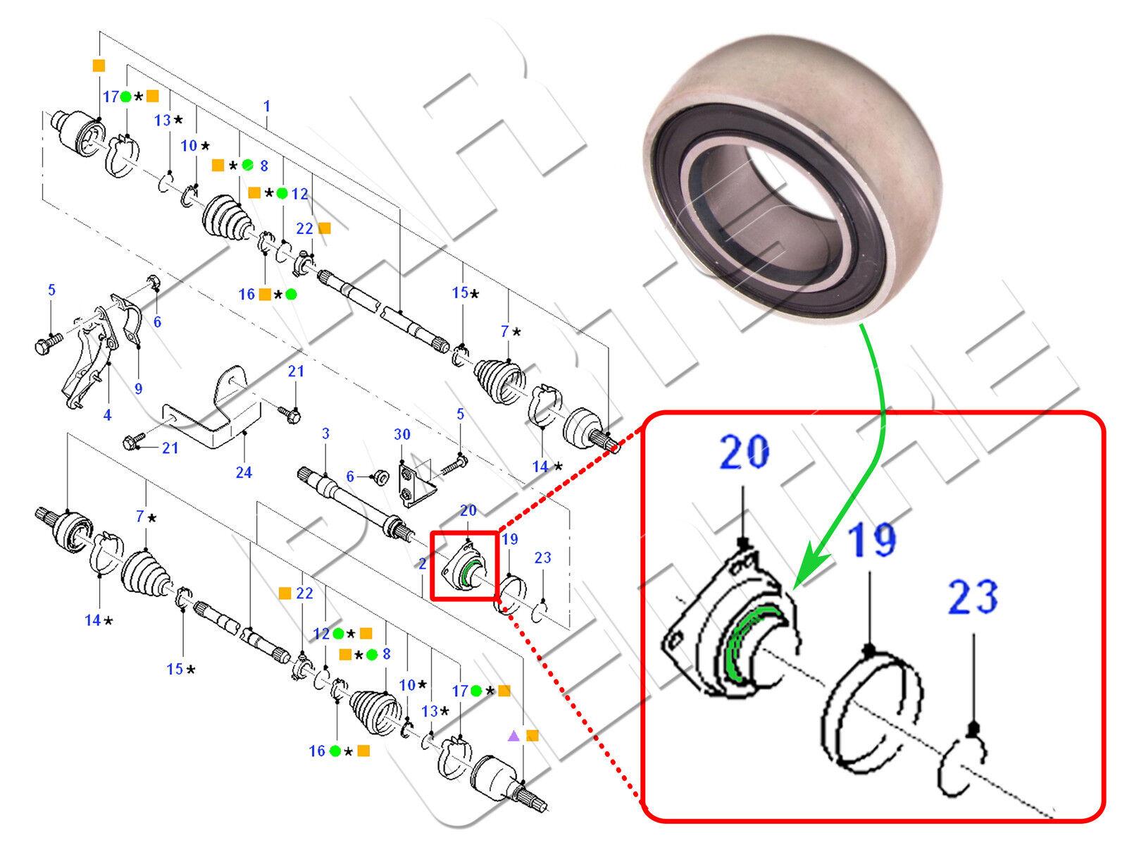 FOR FORD MONDEO MK3 HATCHBACK 2.0 DI TDDi TDCi FRONT DRIVE SHAFT BALL BEARING