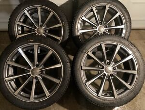 4 x 245/40/18 OEM AUDI RIMS WITH PIRELLI TIRES  $$$$950