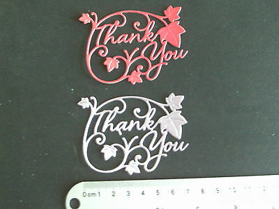 PACK OF 10  SIGNATURE THANK YOU  DIE CUTS