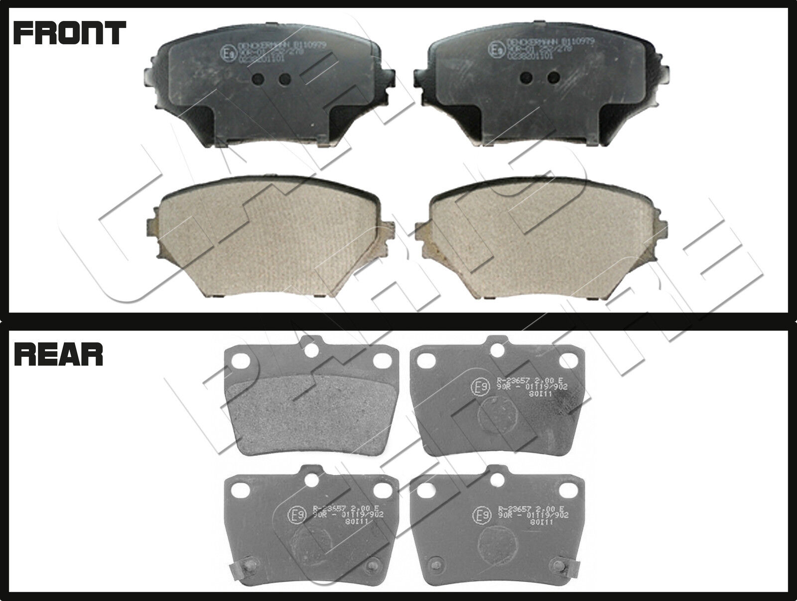 FOR TOYOTA RAV4 VVTI D4D 2001-2006 MINTEX FRONT REAR BRAKE PADS SET BRAND NEW