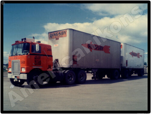 Mack Truck New Metal Sign: Mack COE Ringsby System Tractor & Tandem Trailers
