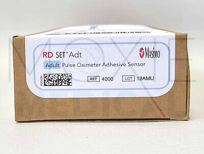 Brand New Masimo 4000 Adult Pulse Oximeter Adhesive Sensor Box Of 20