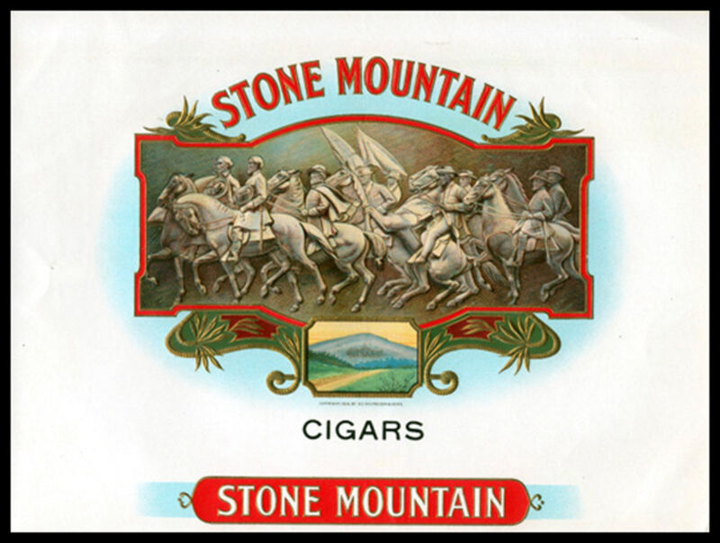 STONE MOUNTAIN ANTIQUE CIGAR LABEL T SHIRT SIZES SMALL THRU XXXLARGE (f)