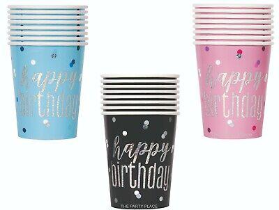 RTHDAY  PINK GLITZ BLUE GLITZ BLACK GLITZ  FOR COLD OR WARM (Pink Party Cups)