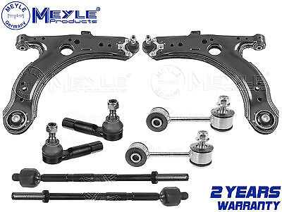 FOR GOLF 1.8 GTI TURBO FRONT SUSPENSION ARMS LINKS INNER OUTER RACK TIE ROD ENDS