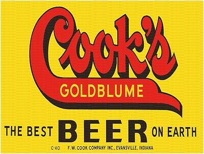 COOK'S GOLDBLUME THE BEST BEER ON EARTH 9