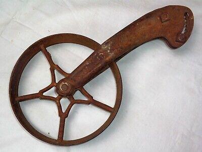 Antique Cast Iron Industrial Caster Cart Wheel 8 Diameter Steampunk