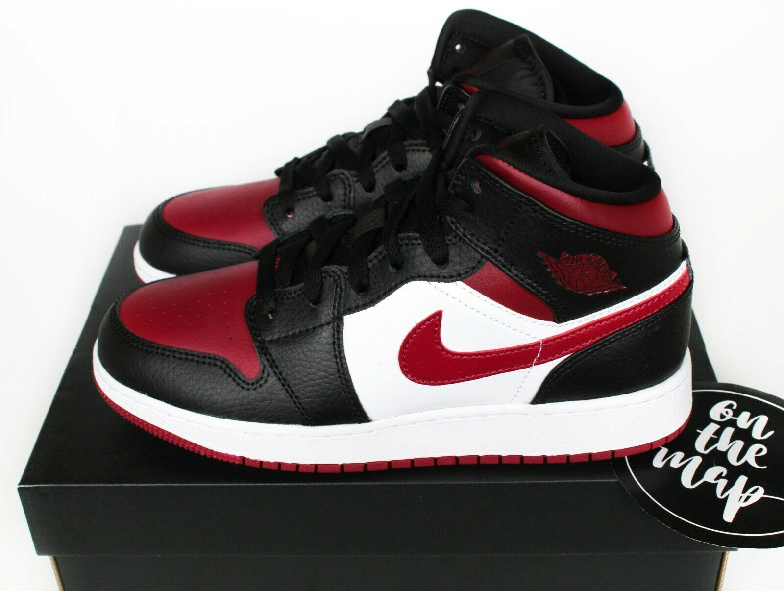 2014 Nike Air Jordan 1 Mid Size 4 5 Blue Infrared Black White