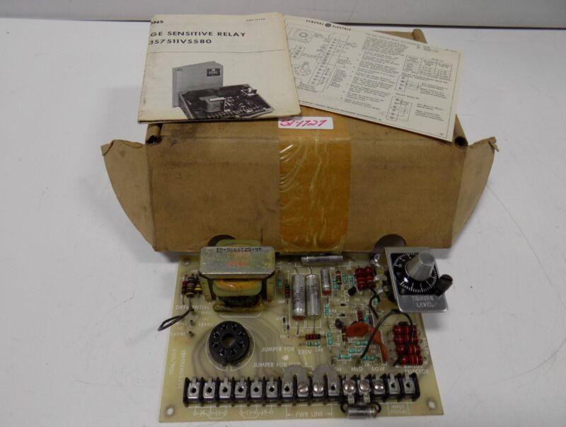 GENERAL ELECTRIC VOLTAGE SENSITIVE RELAY  3S7511VS580 NIB