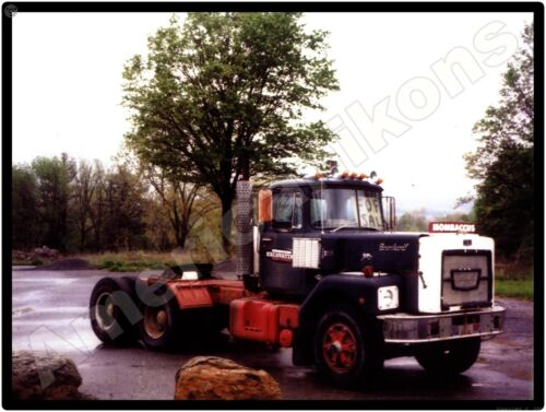 Vintage Brockway Truck New Metal Sign: Mombaccus Excavation Company Truck