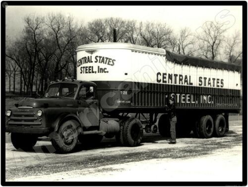 Dodge Trucks New Metal Sign: Dodge Tractor Trailer - Central States Steel Pic