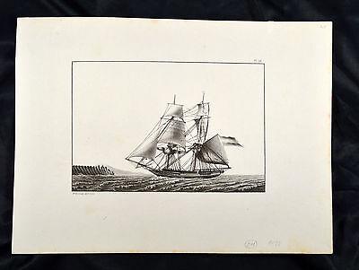 Le Comte 1831 Schepen Schiff Segelboot Sailing boat Ship Marine Brigg Barca