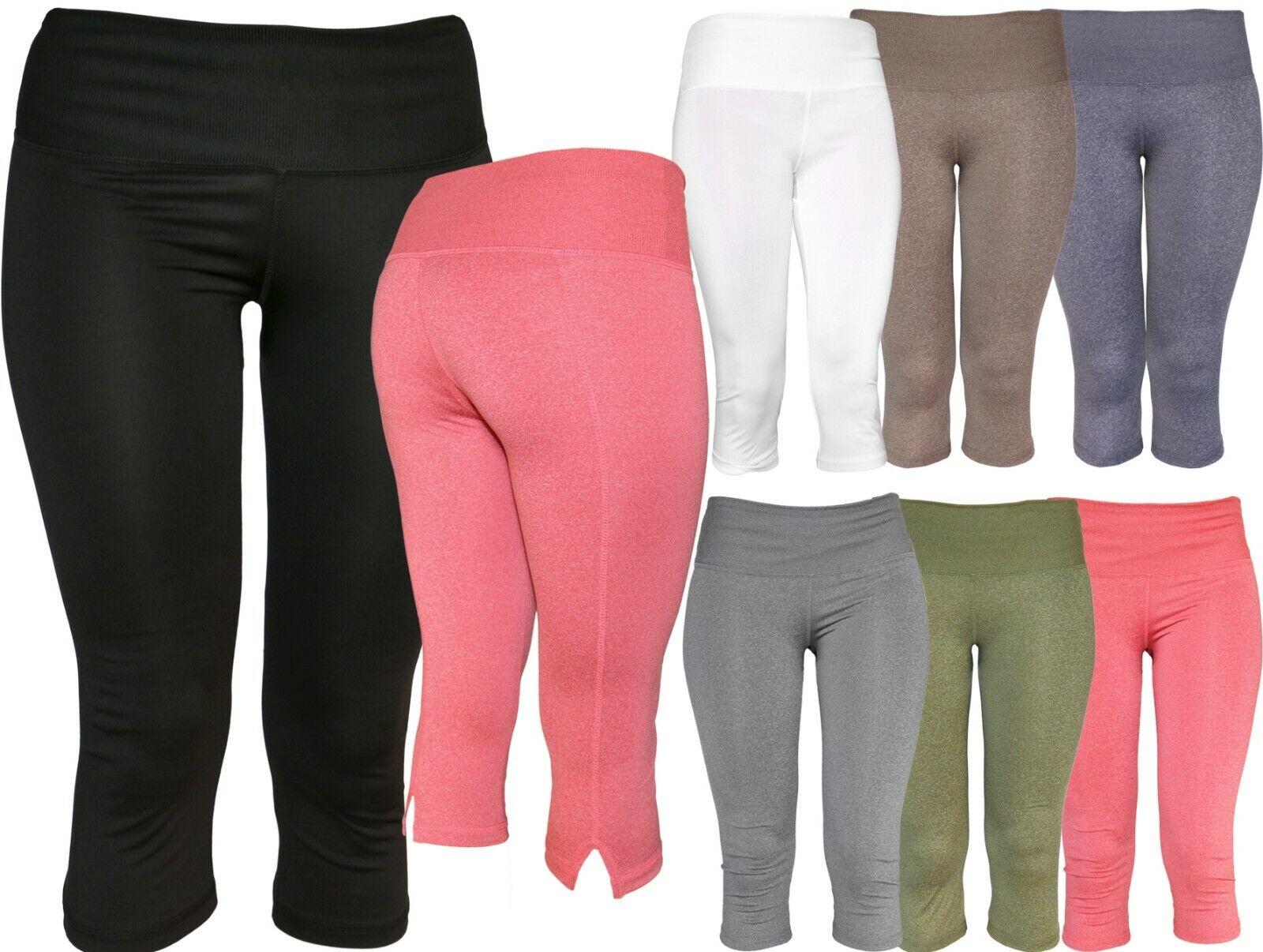 Women's Active Workout Capri Leggings Clothing, Shoes & Accessories