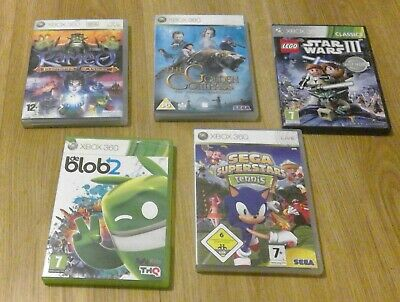 XBOX 360 Games Bundle (5 Games)  KAMEO, DE BLOB 2, LEGO STAR WARS 3 + more