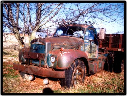 Mack Truck New Metal Sign: Vintage Mack Rusting in the Field