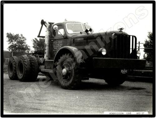 1948 Hendrickson Trucks New Metal Sign: Red Top Trucking - Hammond, Indiana