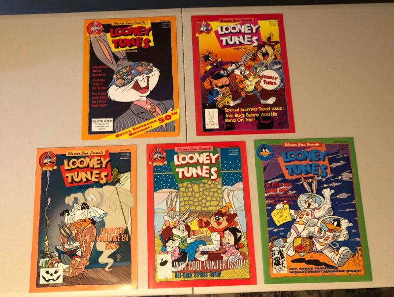 Looney Tunes Adventures DC Superhero Magazine Lot Of 5 1990 1991