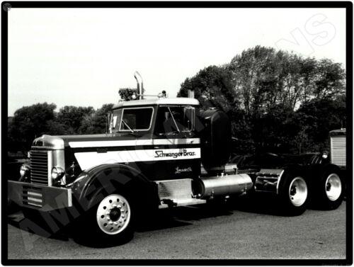 Peterbilt Trucks New Metal Sign: Schwanger Brothers Truck Pictured