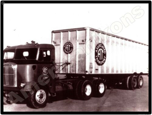 Freightliner Trucks New Metal Sign: COE Associated Transport Tractor Trailer