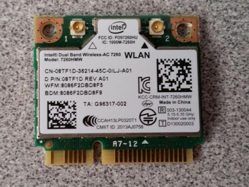 Dell Latitude E7440 Intel Dual Band Wireless-AC 7260 WiFi 7260HMW 8TF1D GENUINE