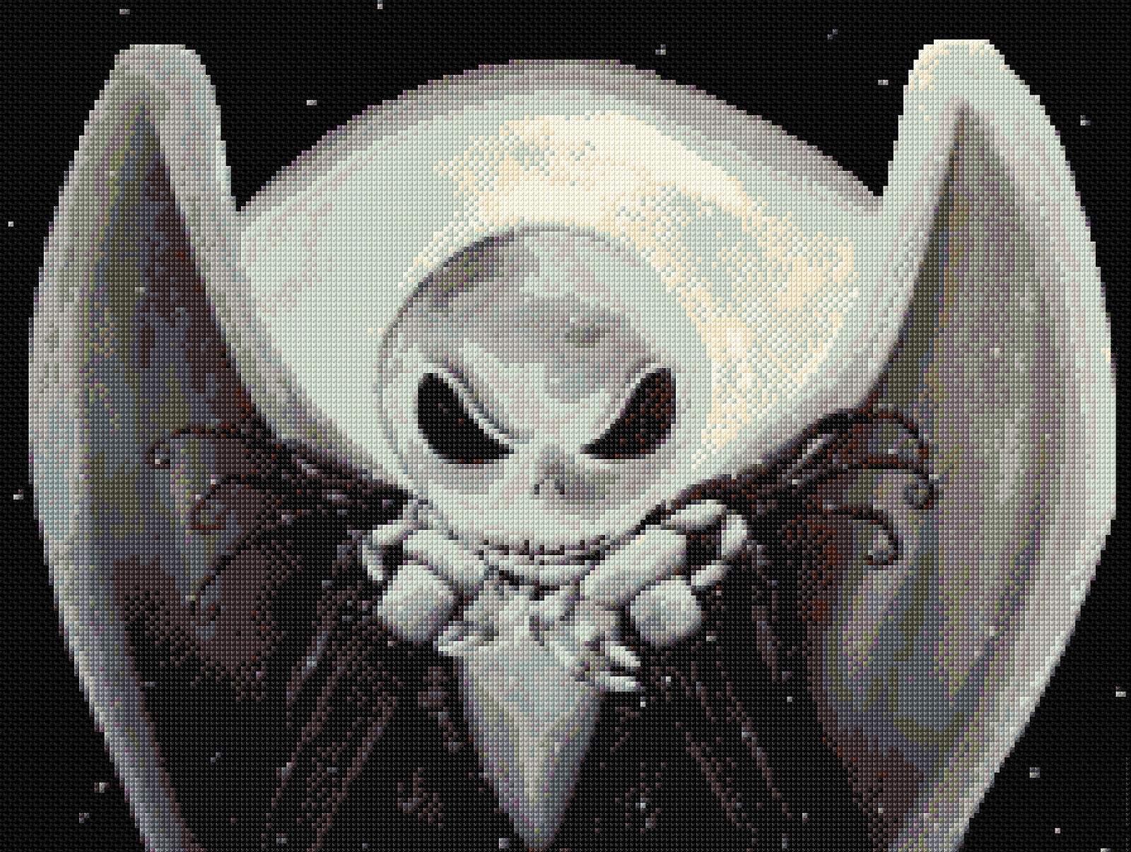 Jack /& Zero Counted Cross Stitch Kit Nightmare Before Christmas TV Film