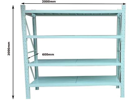 2Mx2M Metal Warehouse Racking Storage Garage Shelving Steel Shelf