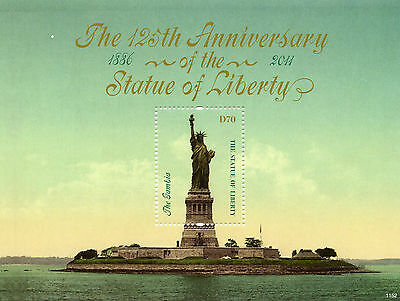Gambia 2011 MNH Statue of Liberty 125th 1v S/S New York Architecture Stamps