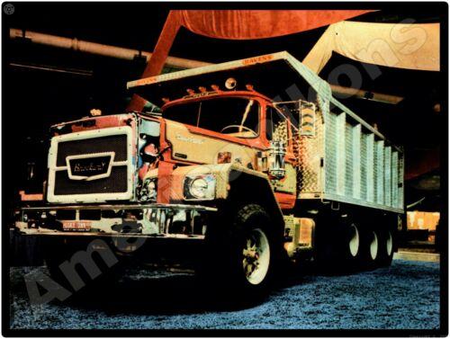 Vtg. Brockway Truck New Metal Sign: Brockway Triple Axle Dump Truck Pictured