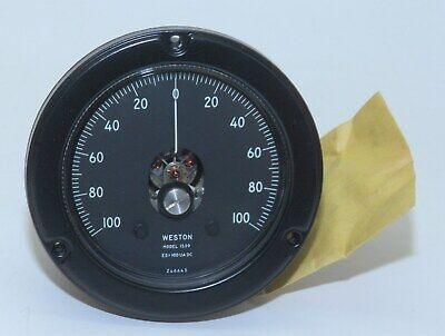 Weston 1539 Analog Panel Meter Ammeter 100-0-100 A Full Range